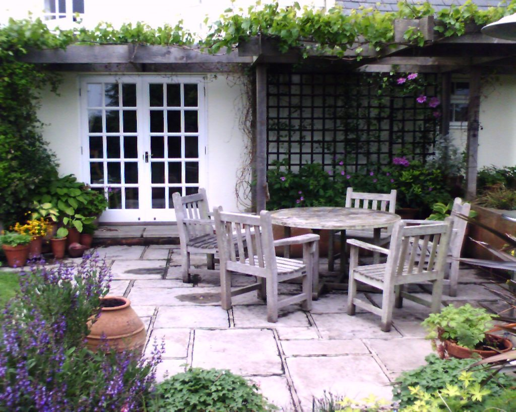 French doors give connection to the garden