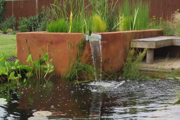 Vertical flow pond biofilter